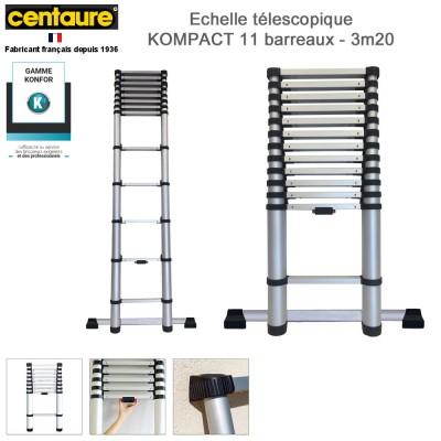 Echelle télescopique Kompact 11 barreaux - 3m20