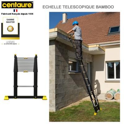 Echelle télescopique Bambou 13 barreaux - 4m05