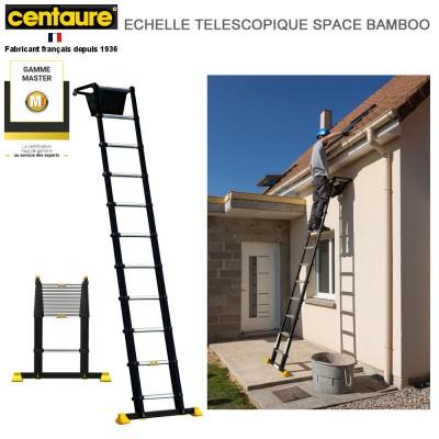 Echelle télescopique Space Bambou 11 barreaux - 3m35
