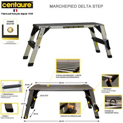 Marchepied plateforme Delta Step - 2.50 m