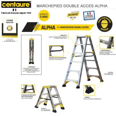 Marchepied aluminium Alpha - de 2x3 à 2x8 marches