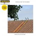 Échelle de toit bois 25 cm - 4.00 m