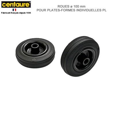 Roues D 100 mm pour plate-forme individuelles PL