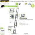 Échelle coullissante bricolage 2 plans CLC2 - de 3m70 à 5m95