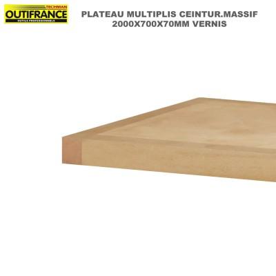 Plateaux d'établi multiplis ceinture massif 2.00 x 0.70 m