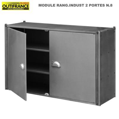 Meuble style industriel 1.20 m - Module double porte