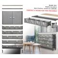 Meuble style industriel 1.20 m - Module 4 petits tiroirs