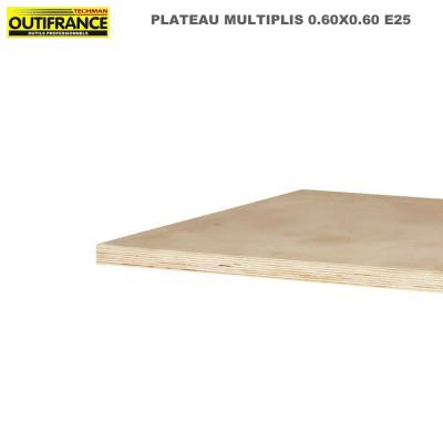 Plateaux d'établis multiplis bois massif 600 x 600x 25 mm