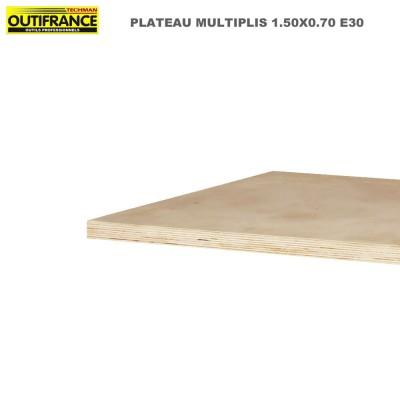 Plateaux d'établis multiplis bois massif 1500 x 700 x 30  mm
