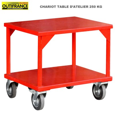 Chariot table d'atelier charge lourde