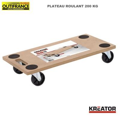Plateau roulant manutention 200 kg