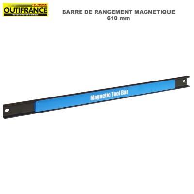 Barre de rangement magnétique outils 61 cm