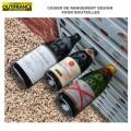 Casier de rangement design pour bouteilles - 60 x 35x h 66 cm