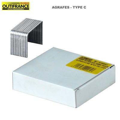 Agrafes à fil fin en acier galvanisé Type C - Boite 5000