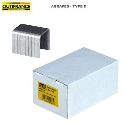 Agrafes à fil plat en acier gavanisé Type D - Boite 5000