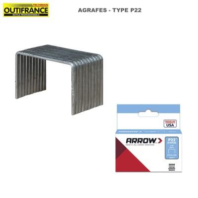 Agrafes à fil fin en acier galvanisé Type P22 - Boite 5000
