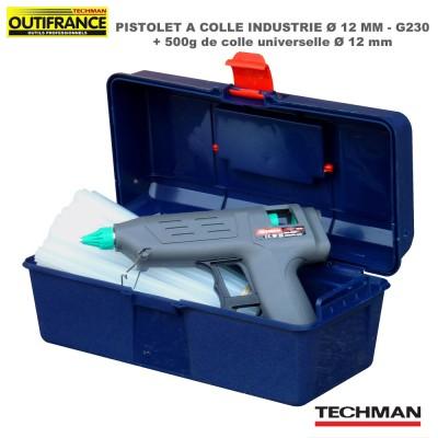 Pistolet à colle industrie G230 - 12 mm + Boite + 500g de colle