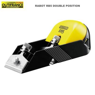 Rabot à bois RB5 double position 150 x 54 mm