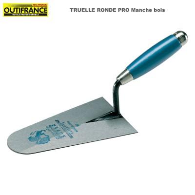 Truelle ronde Pro manche bois - 20 cm