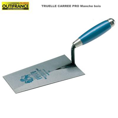 Truelle carrée Pro manche bois - 22 cm