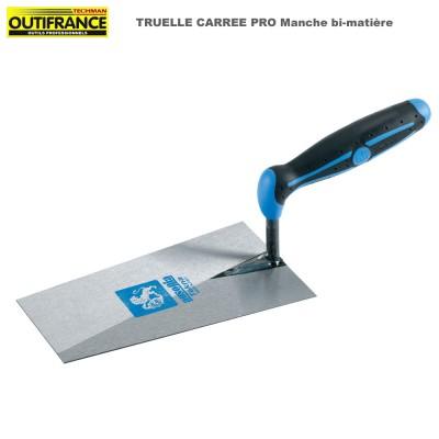 Truelle carrée Pro manche bi-matière - 22 cm