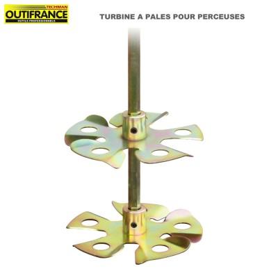 Turbine à pales pour perceuses - 120 mm