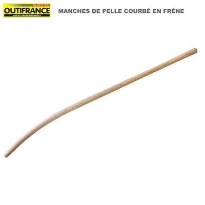 Manche en bois de frêne pour pelle type col de cygne - 1.35 m