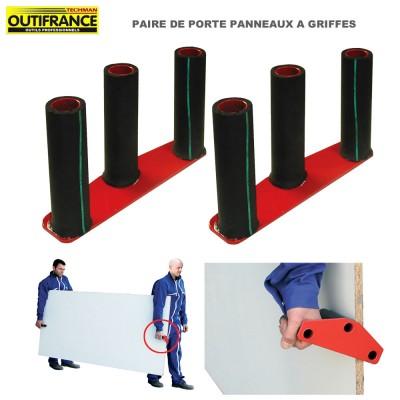 Porte plaque de plâtre à griffes - 2 Pièces