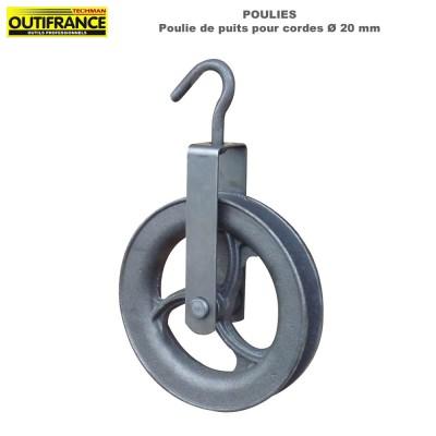 Poulie de puits pour cordes Dia 20 mm