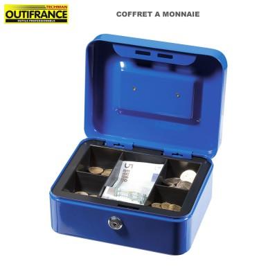 Coffre à monnaie bleue - 20 x 16 x 9 cm