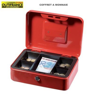 Coffre à monnaie rouge - 25 x 18 x 9 cm