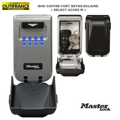 Coffre fort mini retro-éclairé Select Acces M - 12.6 x 7.2 x 5.2 cm