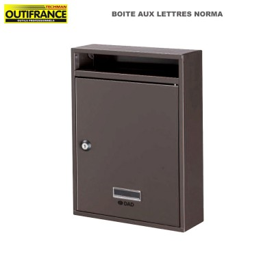 Boite aux lettres Norma - 26 x 8.5 x H 34 cm