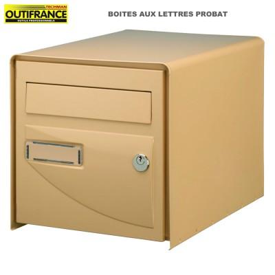 Boite aux lettres Probat simple face beige 30.2 x 41 x H 30 cm