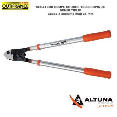 Coupe branches télescopique démultiplié aluminium 60/90 cm