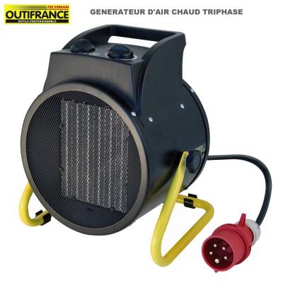 Générateur d'air chaud électrique triphasé 5000 W