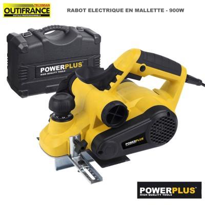 Rabot électrique Powx 1110 - 900 W + malette