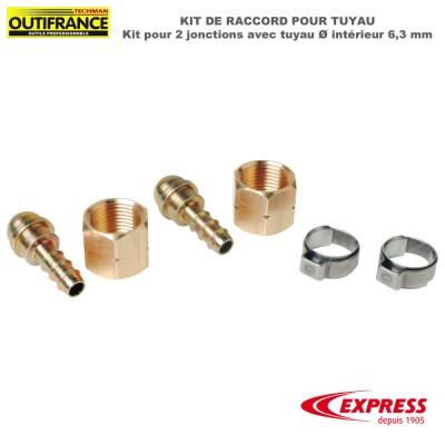 Raccord pour 2 jonctions avec tuyau Dia intérieur 6,3 mm - Kit