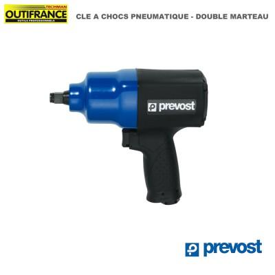 Cle à choc pneumatique double marteau - 6.2 bar - couple 949 Nm