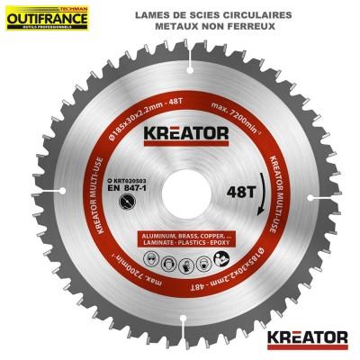 Lame de scie circulaire métaux non ferreux de 185 mm à 305 mm