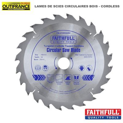 Lame de scie circulaire bois carbure Cordless - de 136 mm à 165 mm