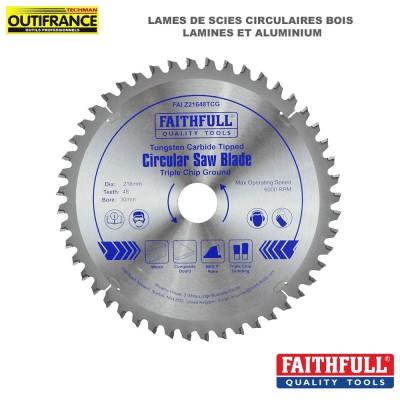 Lame de scie circulaire aluminium et lamines de 216 mm à 250 mm