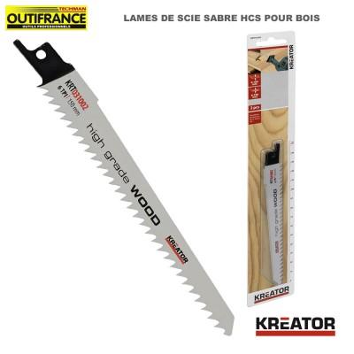 Lame de scie sabre HCS pour bois - 150 mm