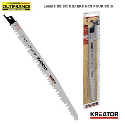 Lame de scie sabre HCS pour bois - 230 mm