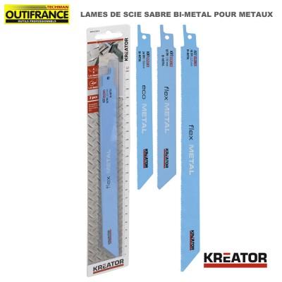 Lame de scie sabre bi-métal pour métaux - 150 ou 225 mm