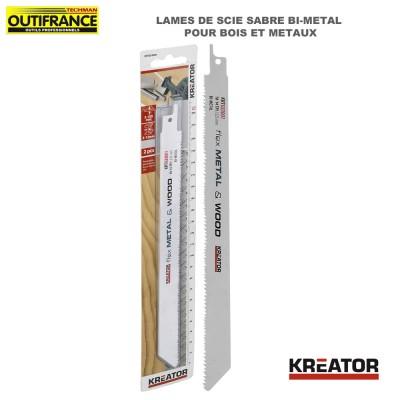 Lame de scie sabre bi-métal pour bois et métaux - 225 mm