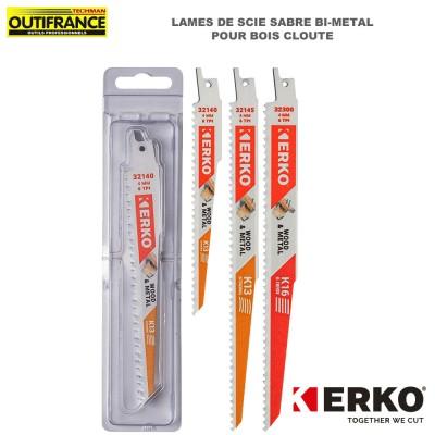 Lame de scie sabre bi-métal pour bois clouté - 150 et 228 mm - 5 pièces