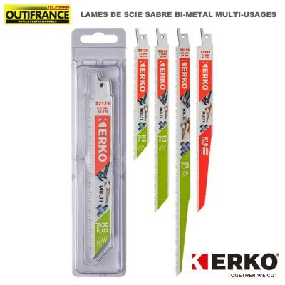 Lame de scie sabre bi-métal multi-usages - de 150 à 300 mm - 5 pièces