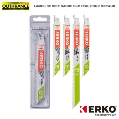 Lame de scie sabre bi-métal pour métaux - de 150 et 228 mm