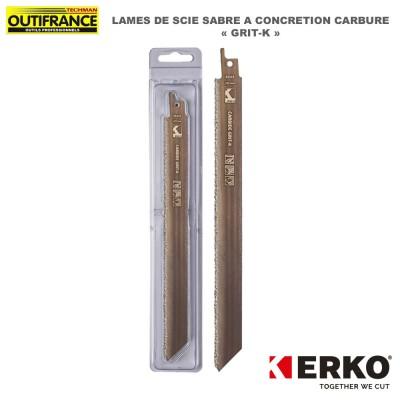 Lame de scie sabre à concrétion carbure Grit-K - 228 mm - 2 pièces
